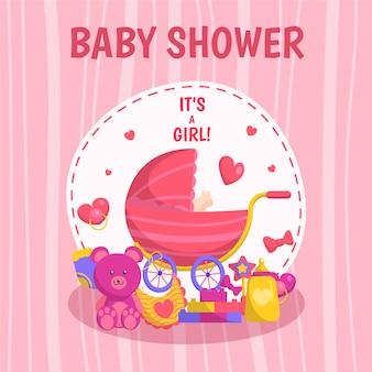 Baby shower meisje achtergrond