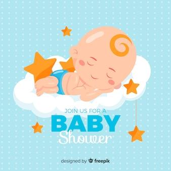 Baby shower ontwerp voor jongen