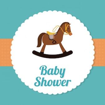 Baby shower ontwerp.