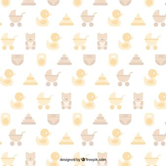 Baby shower patroon in pastel kleuren