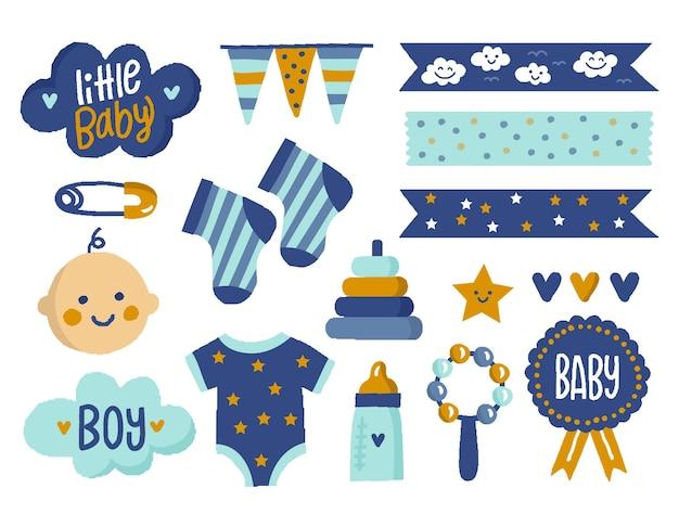 Baby shower plakboekelementen