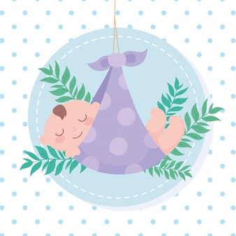 Baby shower tag