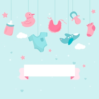 Baby shower thema kopie ruimte