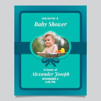 Baby shower uitnodiging (jongen)