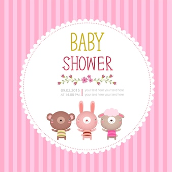 Baby shower uitnodiging kaartsjabloon