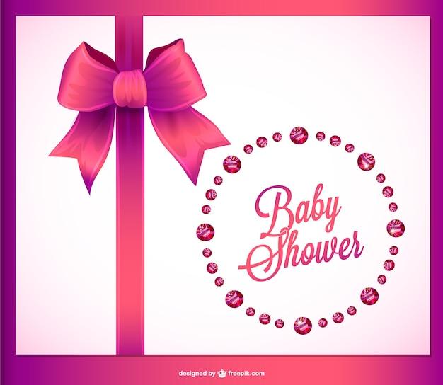 Baby shower uitnodiging kristallen ontwerp