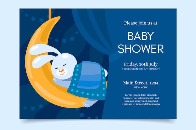 Baby shower uitnodiging ontwerp