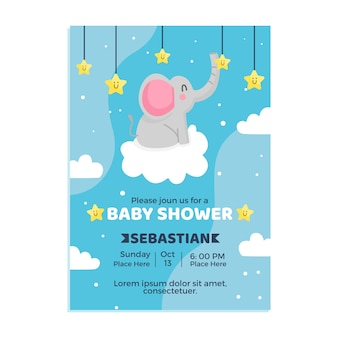 Baby shower uitnodiging sjabloon