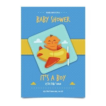 Baby shower uitnodiging sjabloon