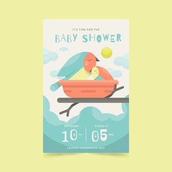 Baby shower uitnodiging stijl