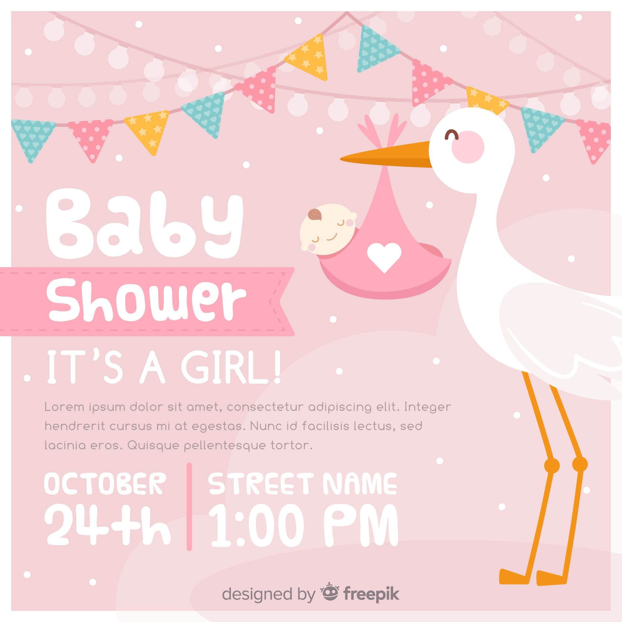 Baby shower uitnodiging