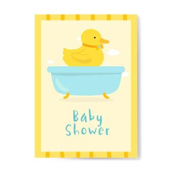 Baby shower uitnodigingskaart ontwerp
