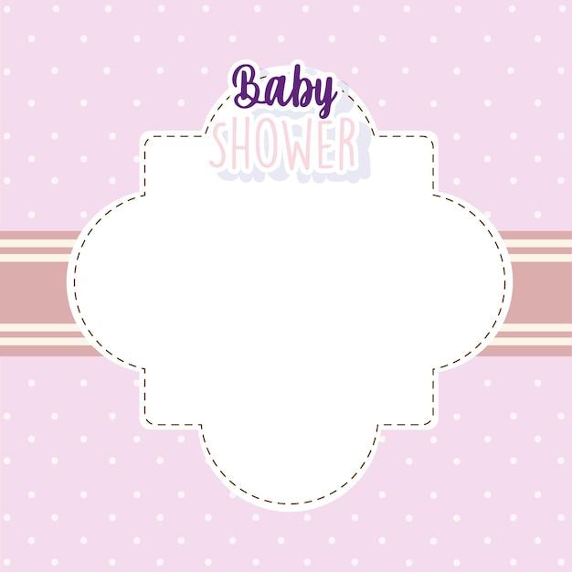 Baby shower uitnodigingskaart welkom pasgeboren lay-out vectorillustratie