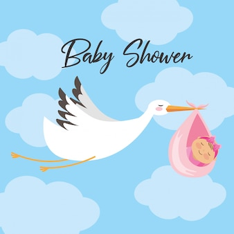 Baby shower uitnodigingskaart