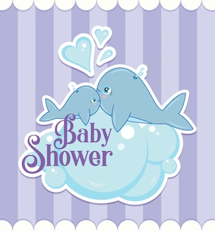 Baby shower walvissen