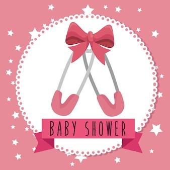 Baby shower wenskaart