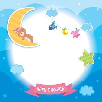 Baby shower wolken