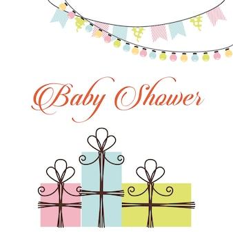 Baby showerontwerp, vector grafische illustratie eps10