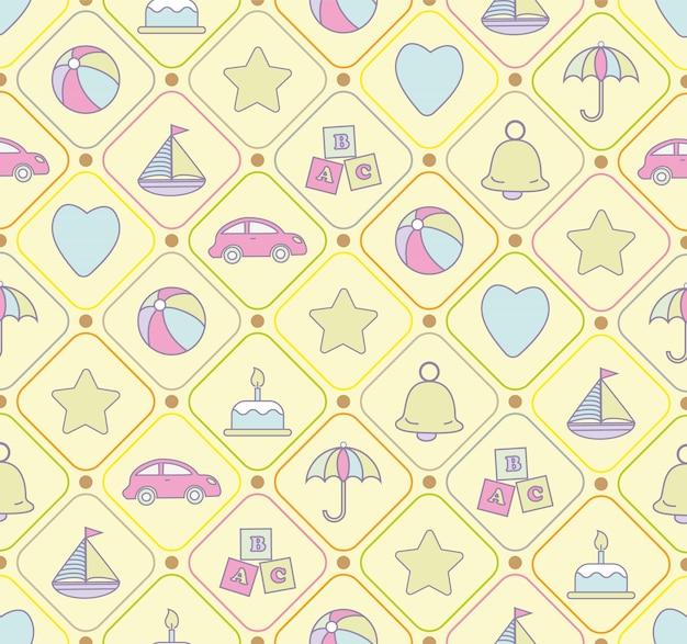 Baby speelgoed naadloos patroon.