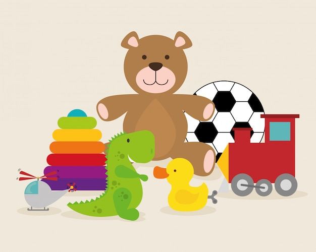 Baby speelgoed ontwerp.