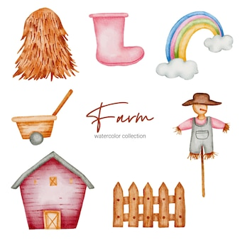 Baby speelgoed voeders set van boerderij