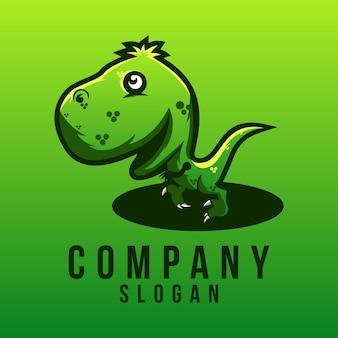 Baby t-rex logo ontwerp
