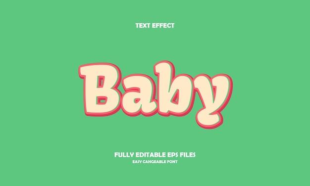 Baby teksteffect