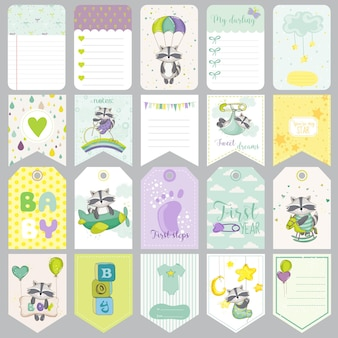 Baby wasbeer-tags