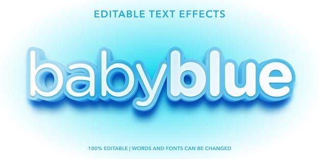 Babyblauw bewerkbaar teksteffect