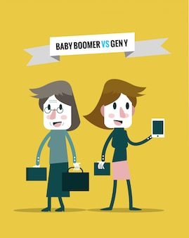Babyboomers vs generatie y. zakelijke human resources