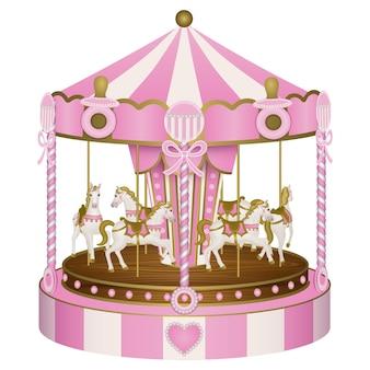 Babydouche carrousel voor babymeisje