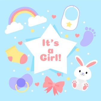 Babydouche evenement met meisje thema