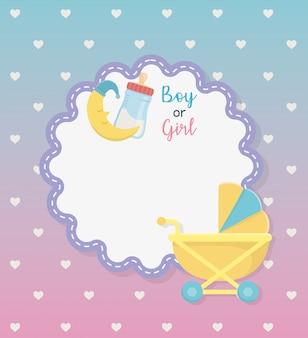 Babydouche kaart met set accessoires