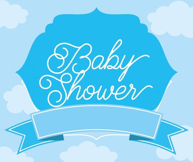 Babydouche kaart