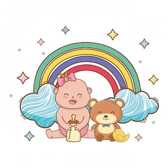 Babydouche leuke mooie illustratie