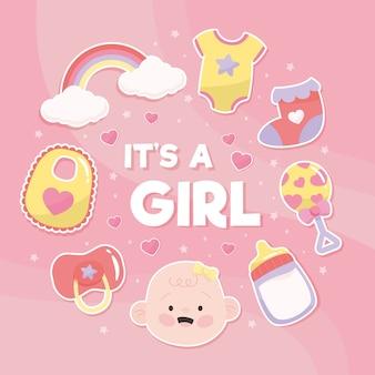 Babydouche meisje concept