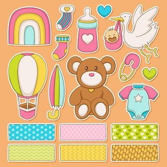 Babydouche met dieren plakboek set
