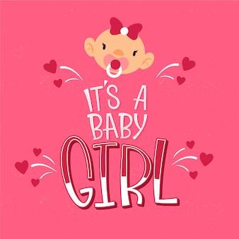 Babydouche met meisjesontwerp