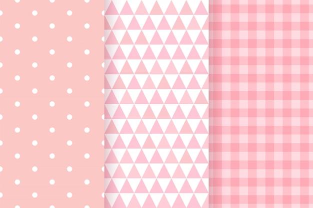 Babydouche naadloze patronen voor babymeisje.