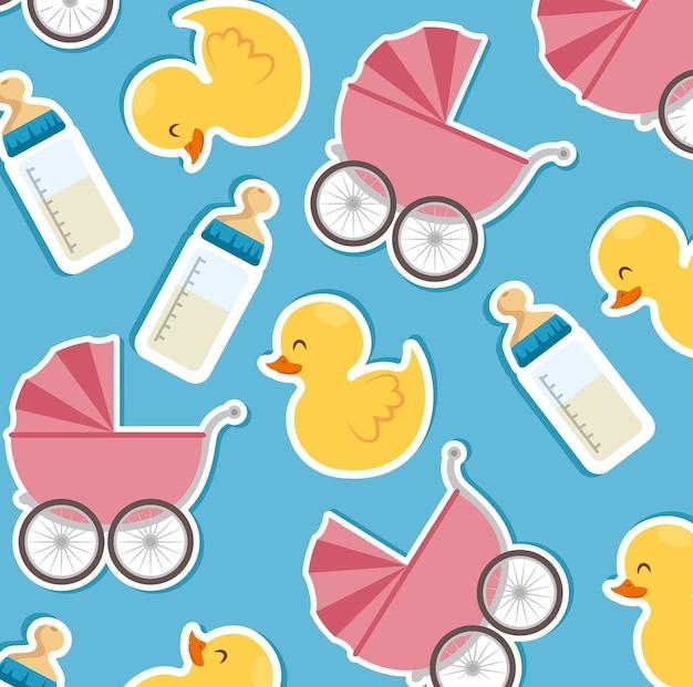 Babydouche naadloze patronen