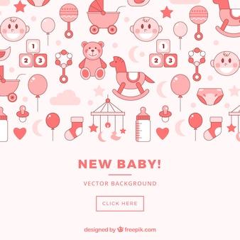 Babydouche pictogrammen sociale media