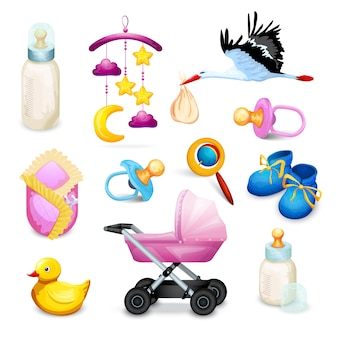 Babydouche pictogrammen