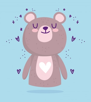 Babydouche, schattige kleine beer dieren harten cartoon