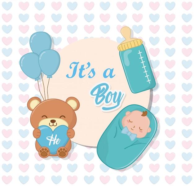 Babydouche van een jongen