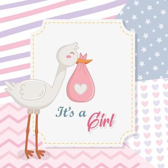 Babydouche van een meisje