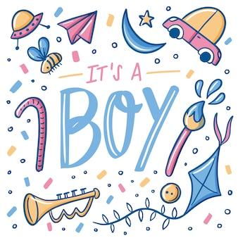Babydouche voor jongen met decoraties