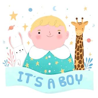 Babydouche voor jongen