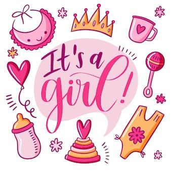 Babydouche voor meisje in roze