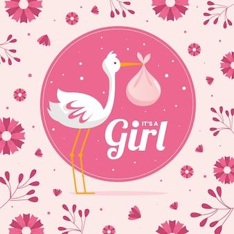 Babydouche voor meisjesachtergrond