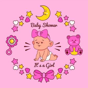 Babydouche voor meisjesthema